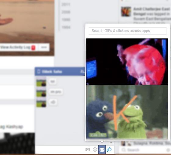 Facebook gif feature
