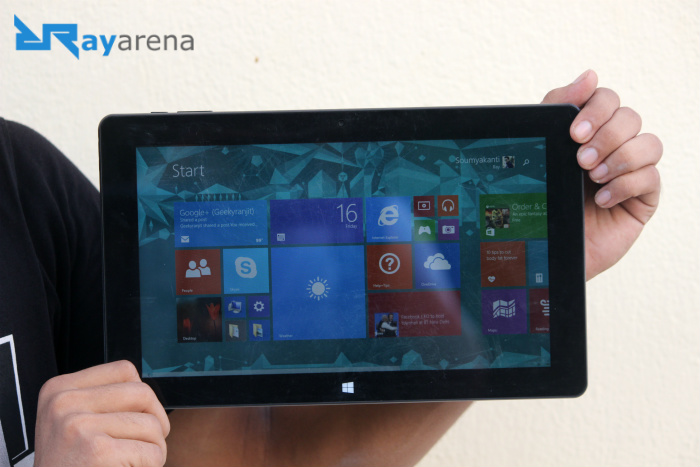 Cube i10 tablet PC Review display