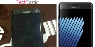 Galaxy Note 7 real image surfaces