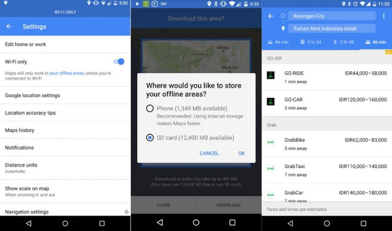 finally google maps for android has ability to save maps