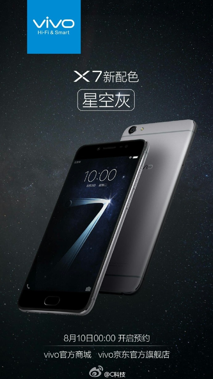 vivo x7 grey color