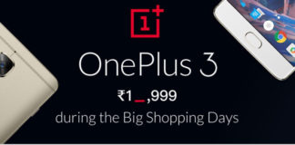 Flipkart-Shopping-Days-Sale-OnePlus-3-Rs.-19999