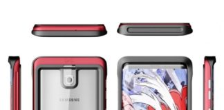 Samsung Galaxy S8 case renders