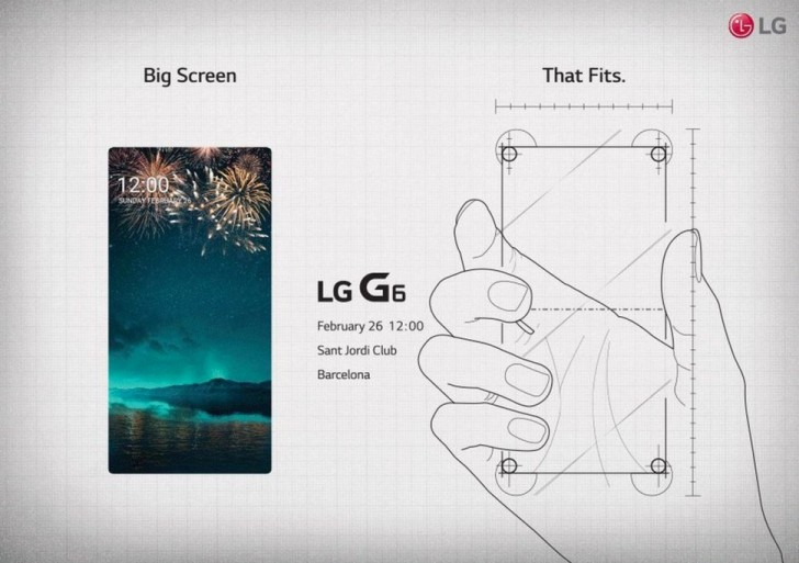 LG G6 Bezel-less Display