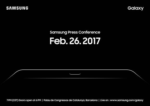 Samsung invitation MWC 2017