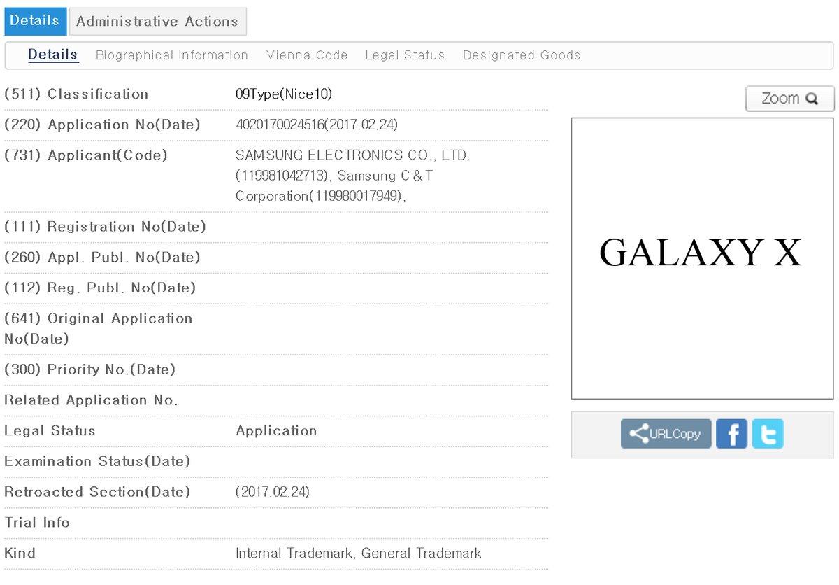 Galaxy X Trademark