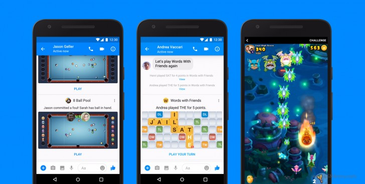 Facebook unveils Instant Games for Messenger on the iOS and Android