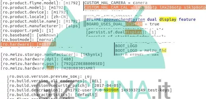 MeizuPro7-sourcecodefilesleak