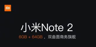 Xiaom Mi Note 2 6GB variant