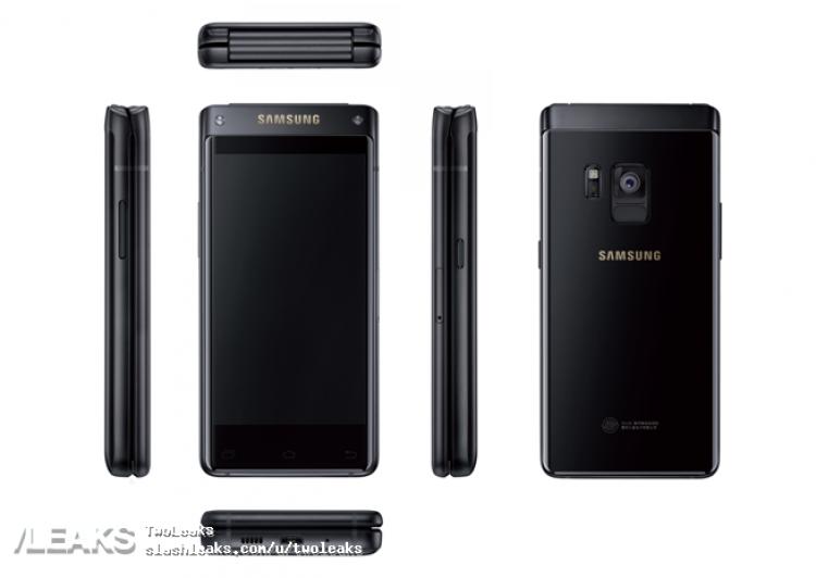 Samsung SM-G9298 High-end Flip Phone Press Render Leaked