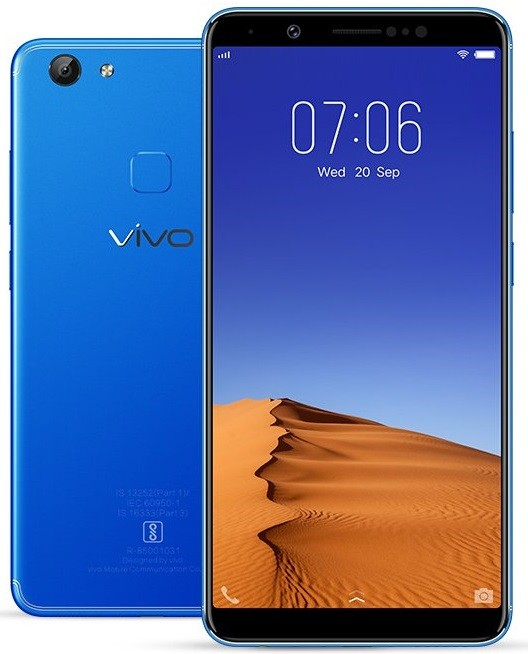 Vivo V7 Plus Energetic Blue color edition