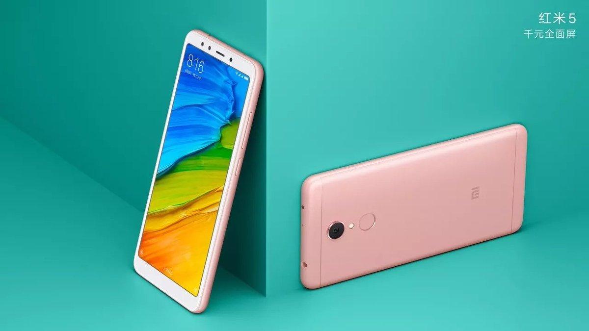Xiaomi-Redmi-5-pink-color-variant