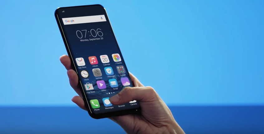 Vivo's new cellphone hides the fingerprint scanner beneath the display screen
