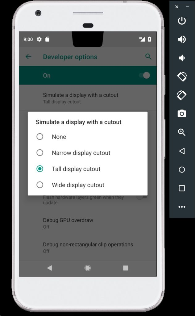Display Cutout Android P