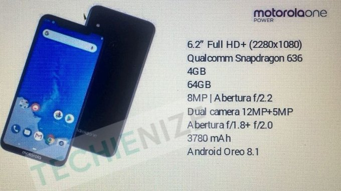 Motorola One Power specs leaked