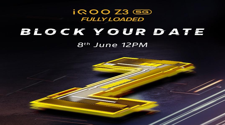 iQOO Z3 launch date